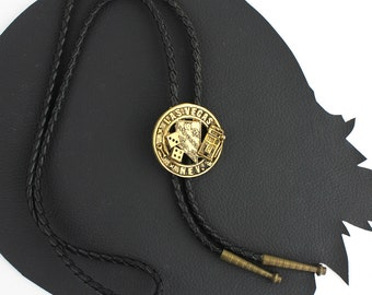 Black Gold & Brass Las Vegas Bolo Tie