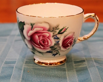 Delphine Bone China Rose Teacup