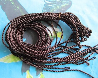 Promotion Sale--20 pieces 18 inch 2mm thickness dark brown twist satin necklace cords