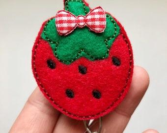 Strawberry badge reel, Nursing Badge Reel, Nurse Badge Reel, badge reel, Retractable Badge, Badge Holder, ID Badge Holder, ID Badge Reel