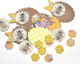 Journaling Inspiration Pack - Honeybee - Tags - Junk Journal - Handmade Tag - Scrapbooking Embellishments - TN - Planner - Journal - Bible -