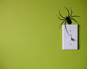 Spider Creepy Vinyl Wall Decal Sticker, Wall Art Sticker, Wall Decal Decor, Vinyl Wall Decor, Home & Living, Creepy Wall Art