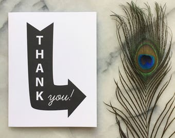 Thank You Letterpress Neon Sign, Single Card