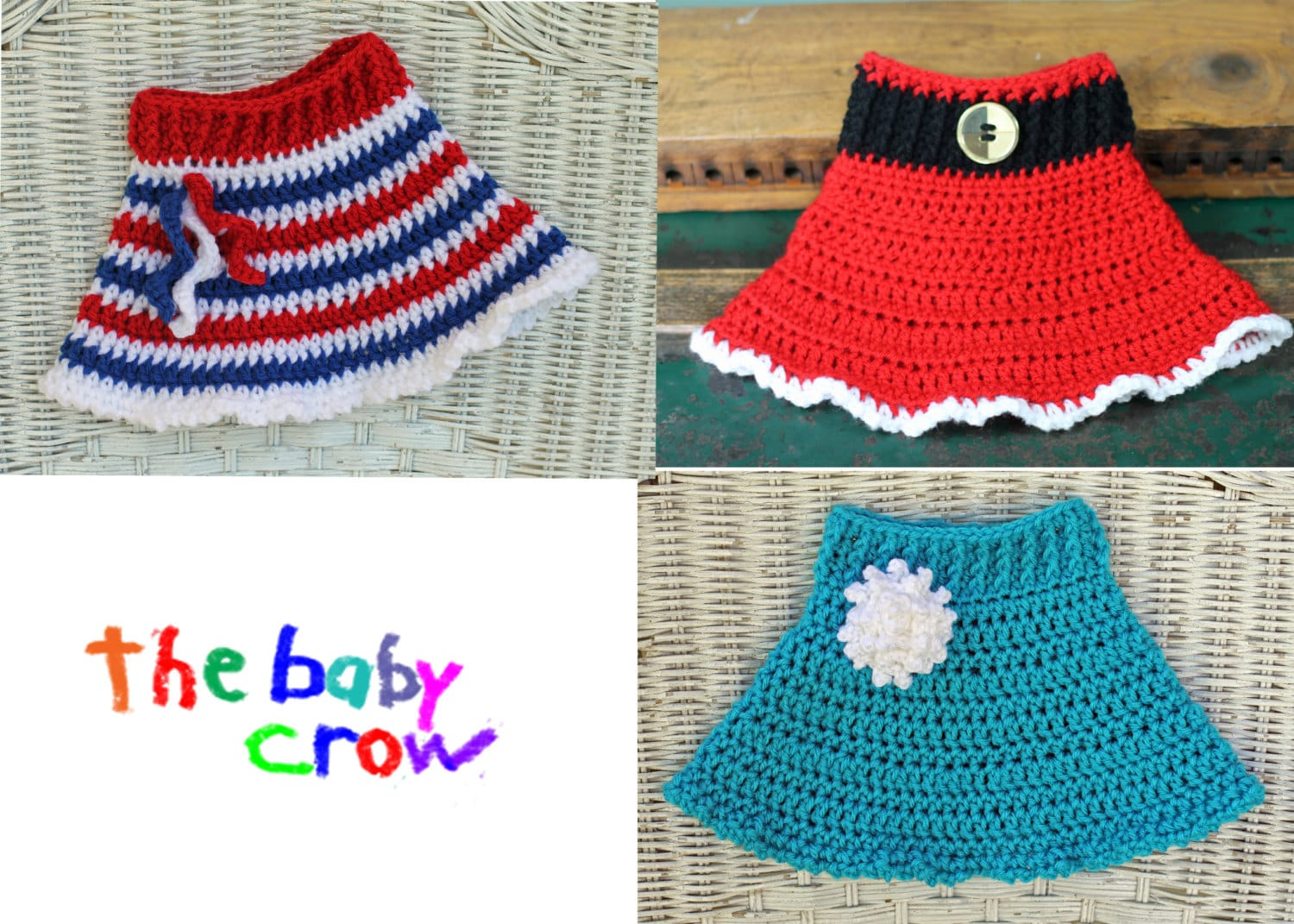 INSTANT DOWNLOAD Versatile Crochet Baby Skirt Pattern 3