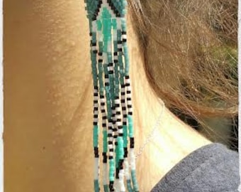 Woven earrings, Indian style