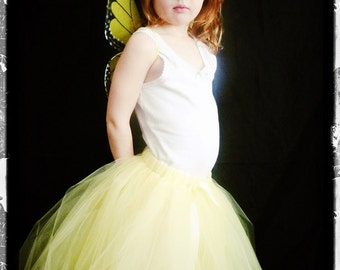 The Adele - Custom  Long Length Half-Poof Tulle Skirt - Sewn tutu skirt - in your choice of colors and length - Flower girl skirt, photos