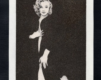 Natural sand painting 24x18 cm Marilyn Monroe