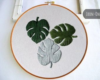 IRON-ON Transfer Monstera Leaves Botanical
