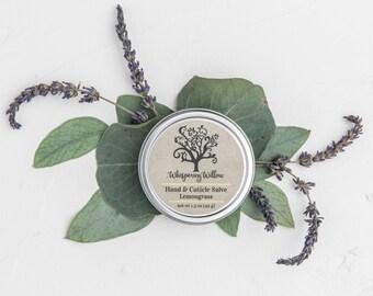 Natural Hand and Cuticle Salve - Lavender, Lemongrass, Tea Tree or Peppermint & Clove