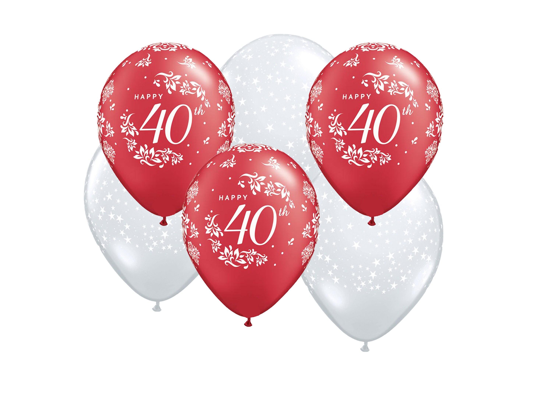 Ruby anniversary balloons x6, 40th anniversary, wedding, Paris ...