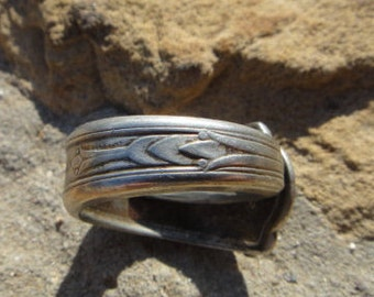 spoon ring , vintage spoon ring