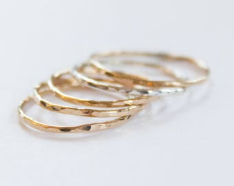 Super Thin Gold Stacking Ring, Thin Gold Ring, 1mm Gold Band, Gold Stacking Ring, Thin Gold Ring, Stackable Ring, Gold Band, Stacking Ring