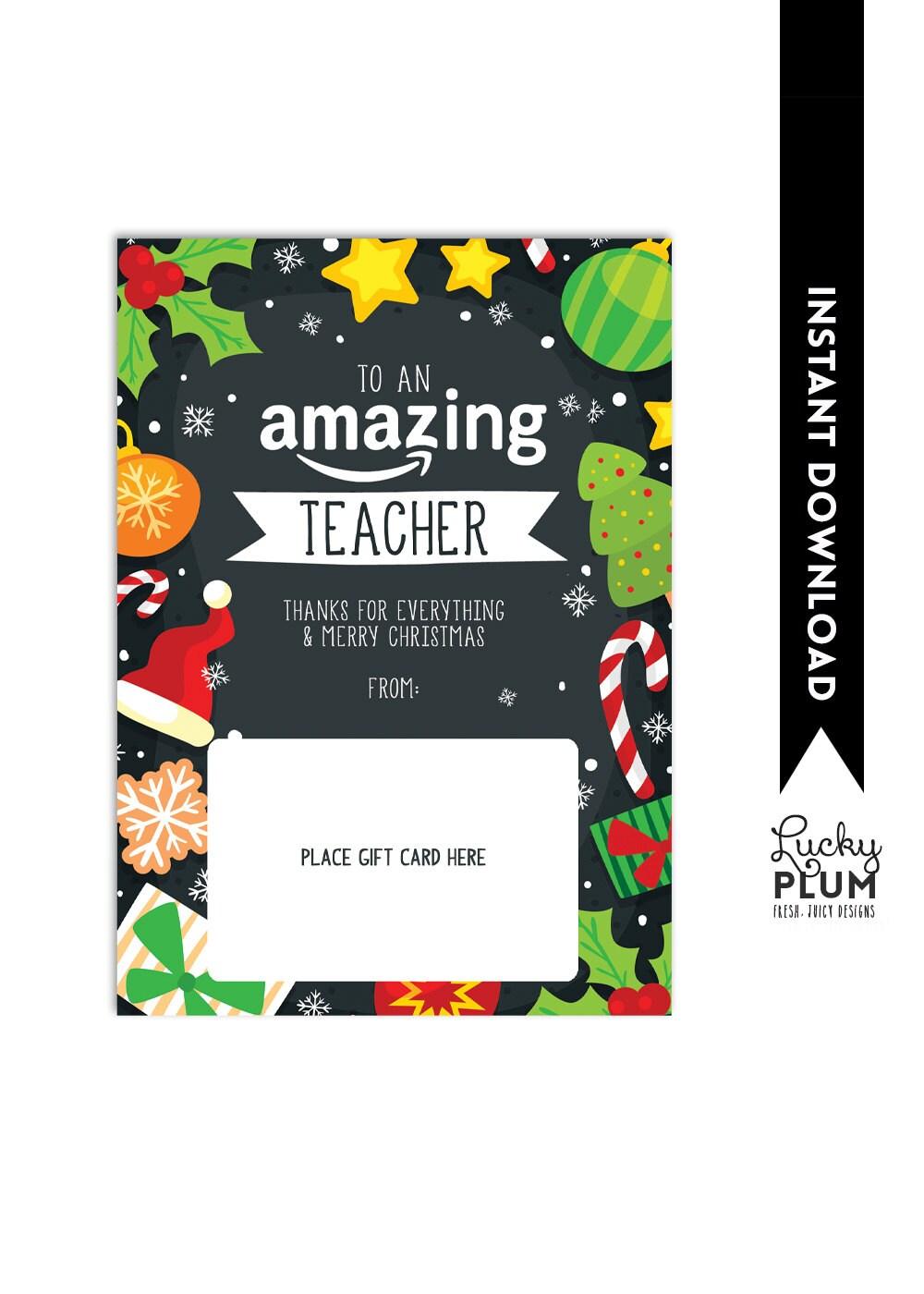 amazon gift card holder  teacher thank you card  christmas