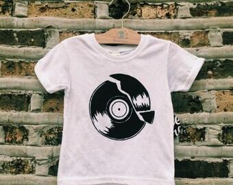 Broken Record Screen Printed Kids Tee