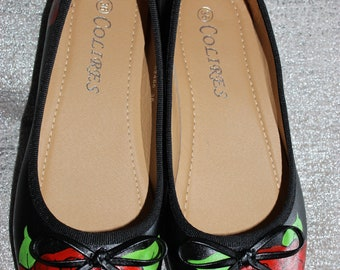 Black and Roses Shoes