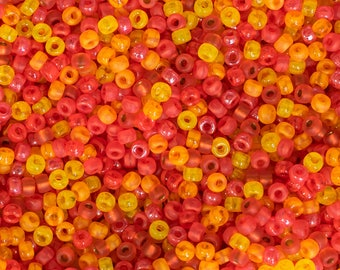 8/0 Matubo Seed Bead Mix - Crazy For Citrus - 4094 - 15 Grams