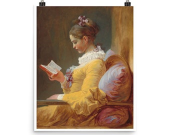 A Young Girl Reading, c.1776 by Jean-Honore Fragonard | Poster