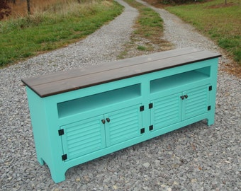 Custom Rustic Media Cabinet, TV Storage Console, Customized Media Console