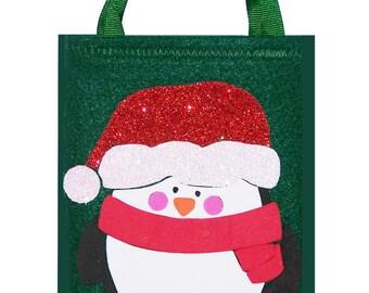 Christmas Penguin Giftcard Bag
