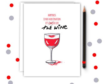 Funny Mothers Day - Wine Lover - Mothers Day - Greeting Card - Mothers Day Card