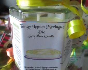 Tangy Lemon Meringue Pie Scented Soy Wax Candle 300g