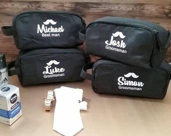 grooms toiletry bag, groom gift, groomsmen gift, bestman gift, personalised groom bag, Best man Gift, personalised gift, mens toiletry bag