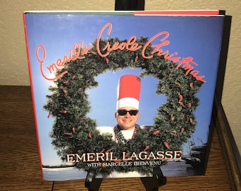 Emeril's Creole Christmas Cookbook by Emeril Lagasse-Hardback Book-First Edition, 1997