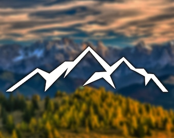 Mountain Silhouette Sticker - Decal for Car, Laptop, Macbook, iPad - Style 2