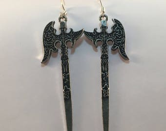 Viking axe earrings