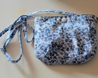 Girl blue floral shoulder bag/satchel