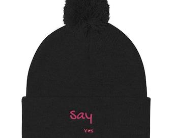 Say yes Pom Pom Knit Cap