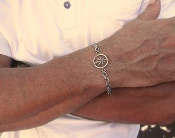 Marijuana chain bracelet - handmade cannabis bracelet - men weed bracelet - leaf bracelet- 925 solid sterling silver