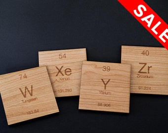 Cherry Wood // W Xe Y Zr Coasters