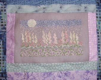Moonlight Garden Flowers Cross Stitch Pattern