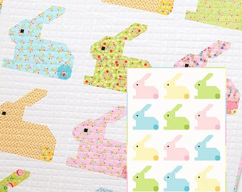 PDF Quilt Pattern - Hippity Hoppity Baby Quilt