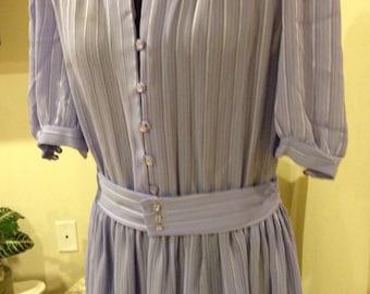 Vintage 1980's Sheer stripe Dress