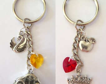 Emma and Regina Once Upon A Time Character Key Rings