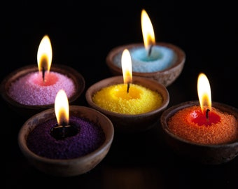 0.9kg Coloured sprinkle candle (all colour) palm wax beads