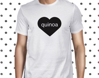Quinoa Fan T-shirt for Men - Funny Vegan Men's T Shirt - Quinoa Tee - Plant-based Tshirt - Pun Vegetarian Tee Shirt - Funny T-shirt for Men