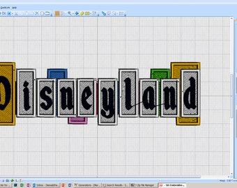 "Custom ""DISNEYLAND"" iron on embroidery patch"