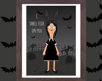 Unofficial Fan art - Louise Belcher x Wednesday Addams - Fan Art - Bobs Burgers - Addams Family