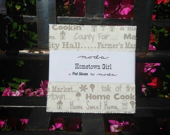 Moda Hometown Girl Fabric Charm Pack by Pat Sloan, Quilt fabric, charm pack, cotton fabric, designer fabric, fabric shop
