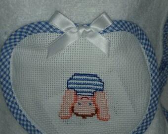 Baby Robe for Newborn blue profile