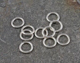little flat rings - argentium silver - pack of ten