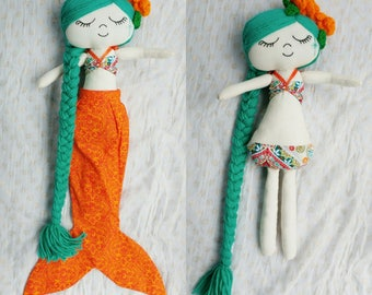 Mermaid doll/Mermaid doll with detachable tail