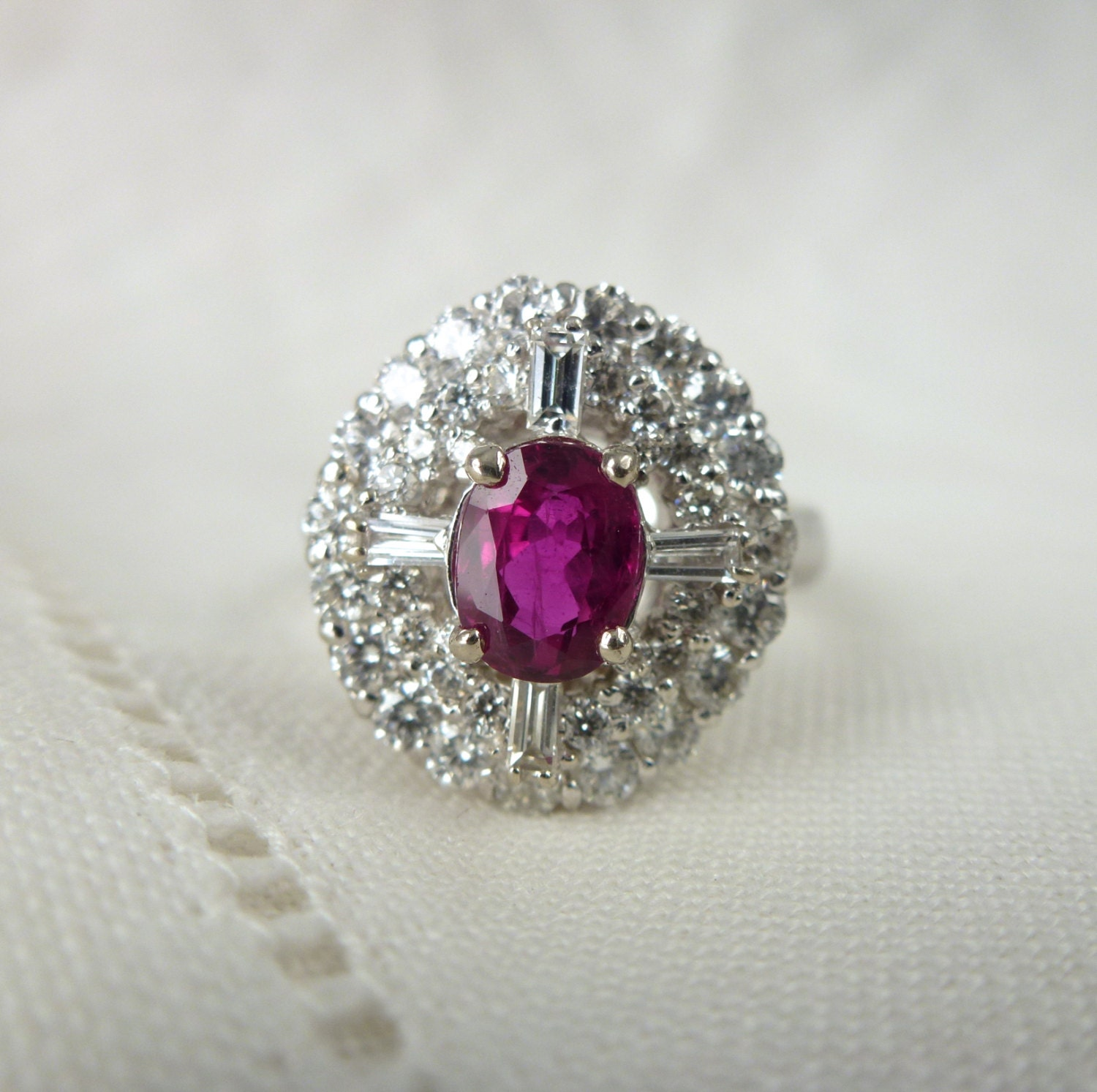 filigree pin gold white ruby rings natural antique engagement diamond ring