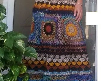 One of a kind crocheted long dress