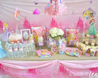 Disney Princess Party Decor, Printable Package