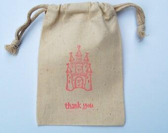 Princess Castle Favor Bags / Set of 15 / Princess Birthday Party Favors