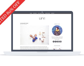 80% - Lify - Wordpress Theme - Premade - Self Hosted - Lifystyle and Fashion Wordpress Theme - Responsive